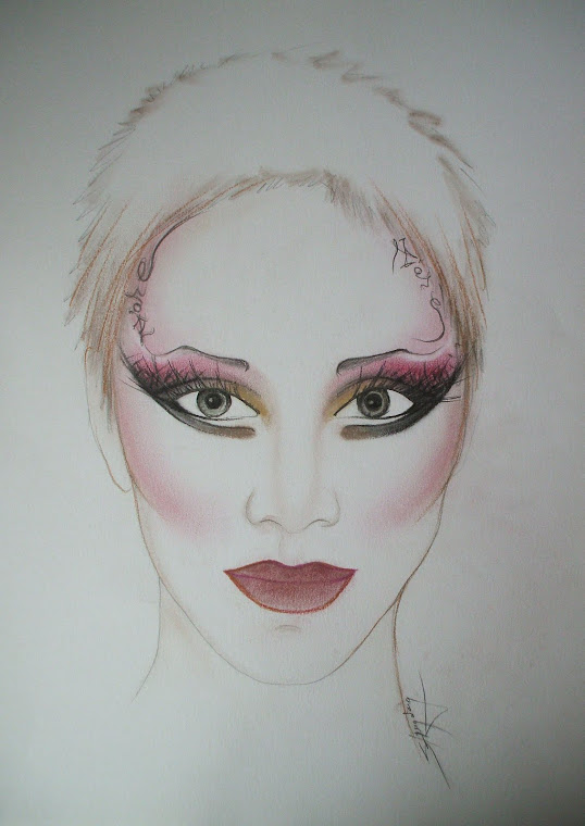 artistic make-up sketches