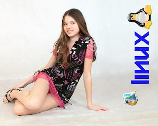 "Papel de Parede Gimp-Tux 1280x1024 Sandra Model+""-66"