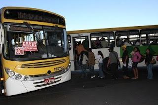 Greve de ônibus no DF - Na quinta-feira (05/07/2012) os rodoviários prometem fazer uma paralisação de 24h em Brasília