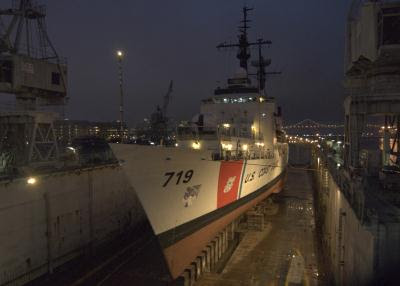 The Coast Guard Cutter Boutwell in Drydock