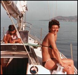 Mami e io sulla tuga della Mabru