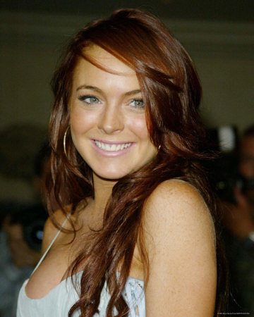 lindsay lohan red hair-1