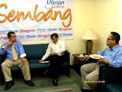 Bersama Ketua Editor ADAP Utusan Melayu