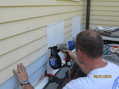 Installing An Exterior Mounting Board A Concord Carpenter