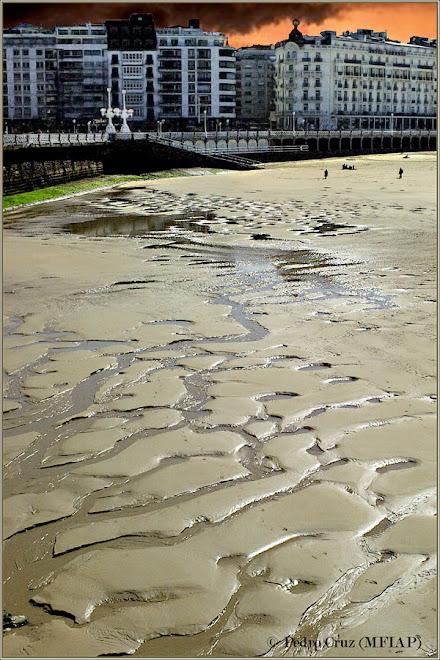 ripples en la arena