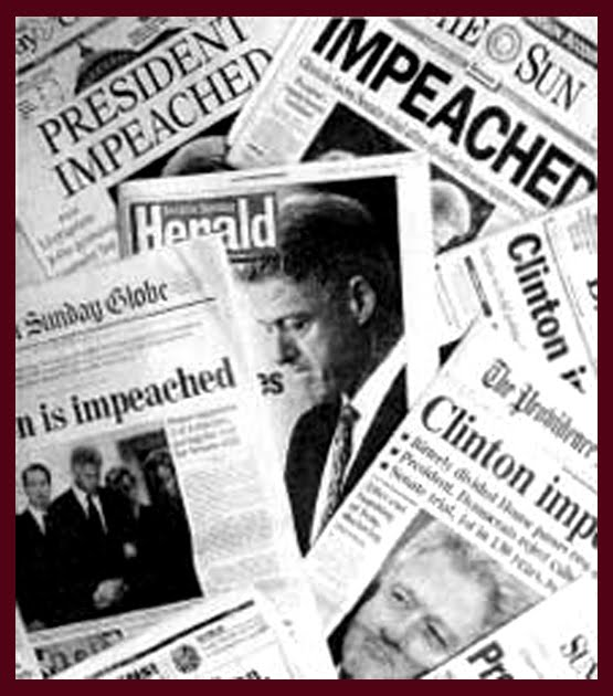 clinton essay impeachment More essays: impeachment impeachment: a long process it is the ultimate punishment for a president: impeachment but it is a long and complicated route to removing a political official from office and never in more than 200 years of us history has it happened to a president for treason, bribery or other high crimes a.