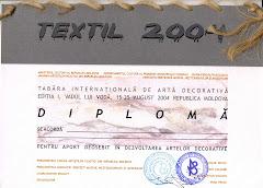 Diploma primei editii a Taberei de Arta ArtTEXTIL 2004