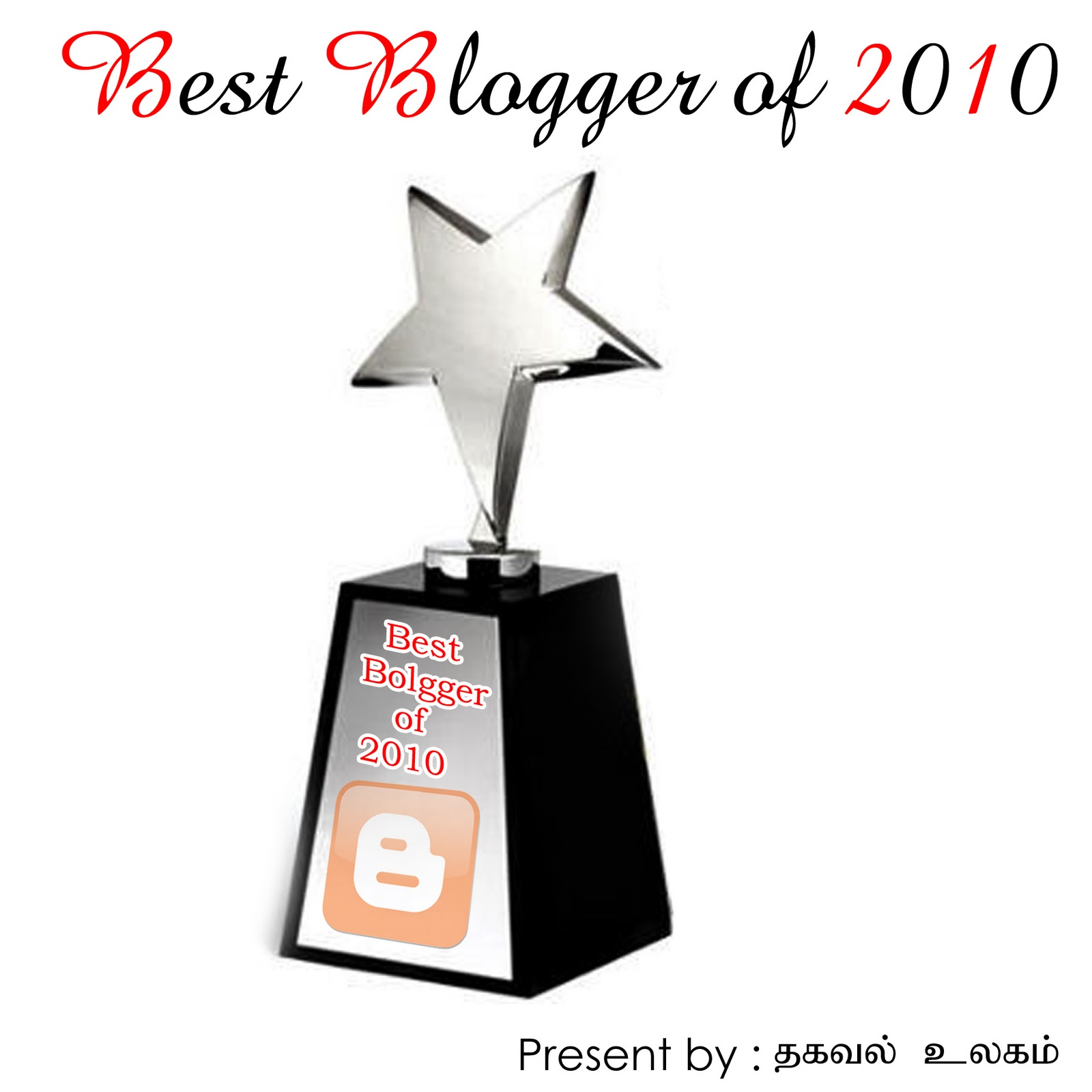 BEST BLOGGER OF 2010