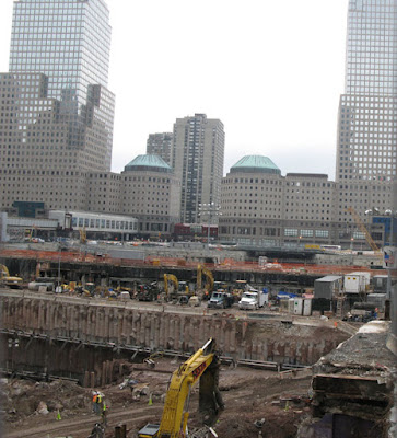 Picture of new construction at Ground Zero - World Trade Center in New York City, December 2007
