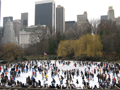 The Ice Skating Rink in Central Park, New York City