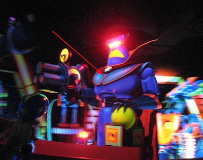 Zurg's chest with the hidden 100,000 point target on Buzz Lightyear's Astro Blasters