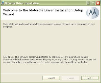 Motorola Handset USB Driver v2.7.6 Install 1