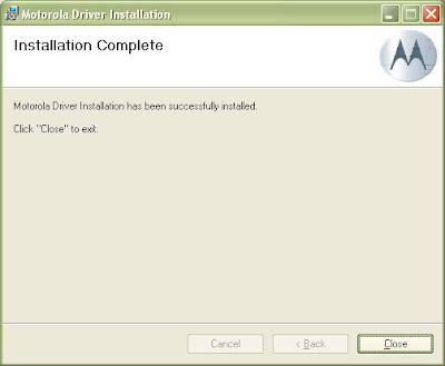 Motorola Handset USB Driver v2.7.6 Install 4