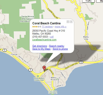 Coral Beach Cantina and Bar, Malibu CA