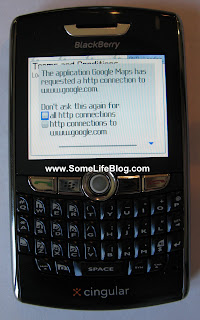 Google Mobile Maps GMM with GPS for Blackberry 8800 Series Installation Picture 8