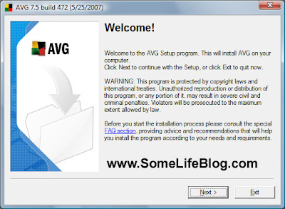 Installation for AVG Free Anti-Virus for Windows Vista Ultimate 64-bit (x64) Guide 1