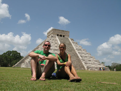 Kenny and Ashley in front of the Chichen Itza Pyramid