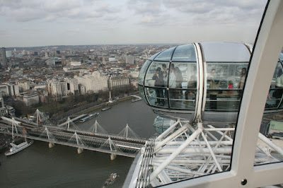 London Eye - Photo of Millenium bridge from our capsule
