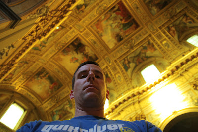 A self portrait in which may be my favorite church here in Rome, the Basilica of Sant'Andrea della Valle.
