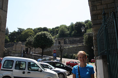 I took a quick picture of Ashley right before we head up a couple hundred stairs to Pizzale Michelangelo here in Piazza Giuseppe Poggi.