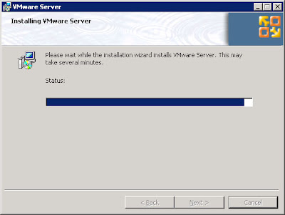 Installation goes off without a hitch or any errors, VMWare Server 2.0 is ready to go.