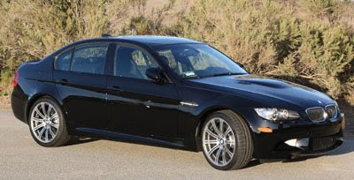 Near Stoney Point in the Santa Monica Mountains with the Jet Black 2008 BMW M3 Sedan E90