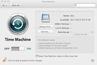 Time Machine is backing up my Mac Mini to the network