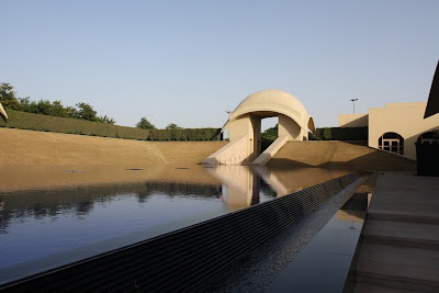 The Trident Hotel in Gurgaon is a great place to stay.  Quiet, peaceful, and relaxing.