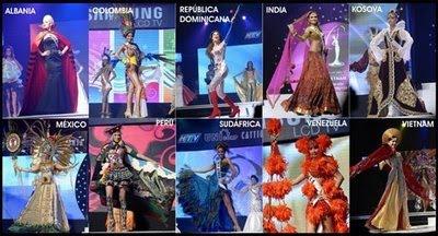 Trajes típicos de algunas candidatas a Miss Universe 2010