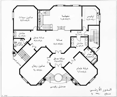 تصميم يناسب الذوق السعودي مخطط فلل سعودية تصاميم داخلية فلل خرائط فلل خليجية