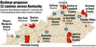 Casino kentucky map