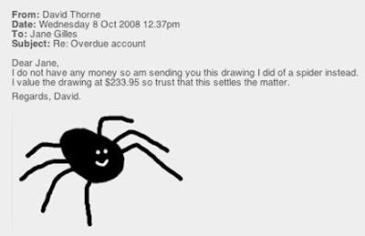 David thorne spider story