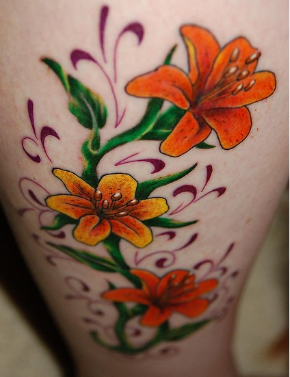 Custom Tattoos, Flower Lily Tattoos, Flower Lotus Tattoos, Misc Tattoos,
