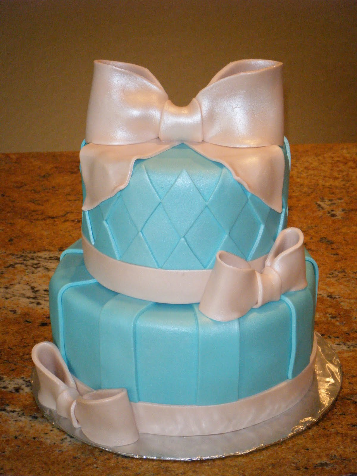 Tiffany Blue And Silver Wedding Cakes Viewing Gallery