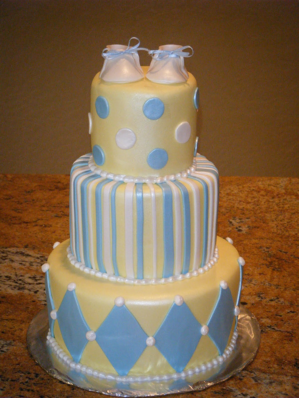 cassy 39 s cakes blue and yellow baby shower