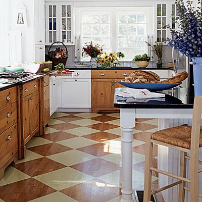 Painted floor rustic diamond l