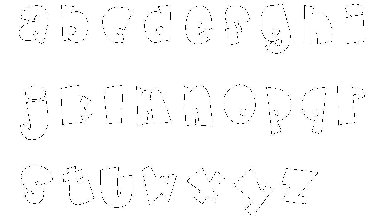 Molde Letras Abecedario