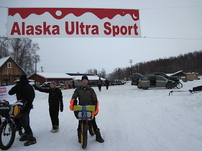 Aaron Fanetti at the start of the 2010 Iditarod Trail Invitational