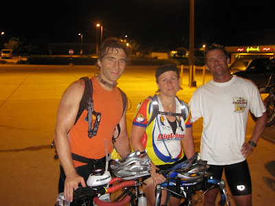 Aaron Fanetti, Stephanie McCreary, and Colin Peeler after bike ride.