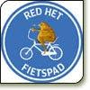 Red het fietspad
