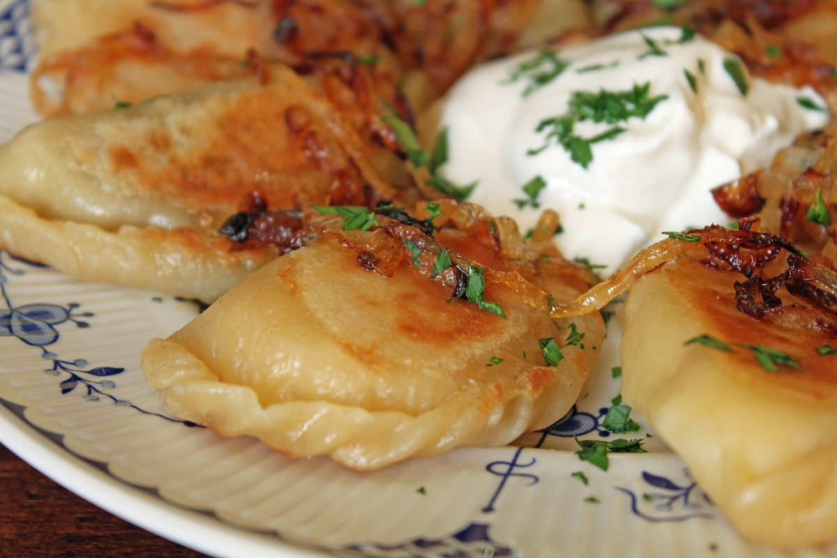 There's a Newf in My Soup!: Potato and Mushroom Pierogies with Roasted ...
