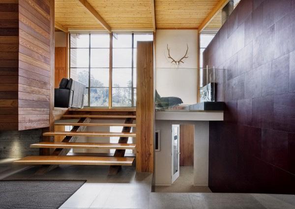 decoracao de interiores de casas de madeira: casa bem iluminada através de luz natural. Muito elegante com todo o