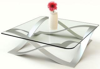 Mesa de centro decoração com inox | Ideias decoração mobiliário