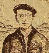 Aita Patxi dibujo de SP-Priest Patxi caricature of SP
