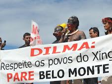 Indígenas protestam em Brasília contra Belo Monte!