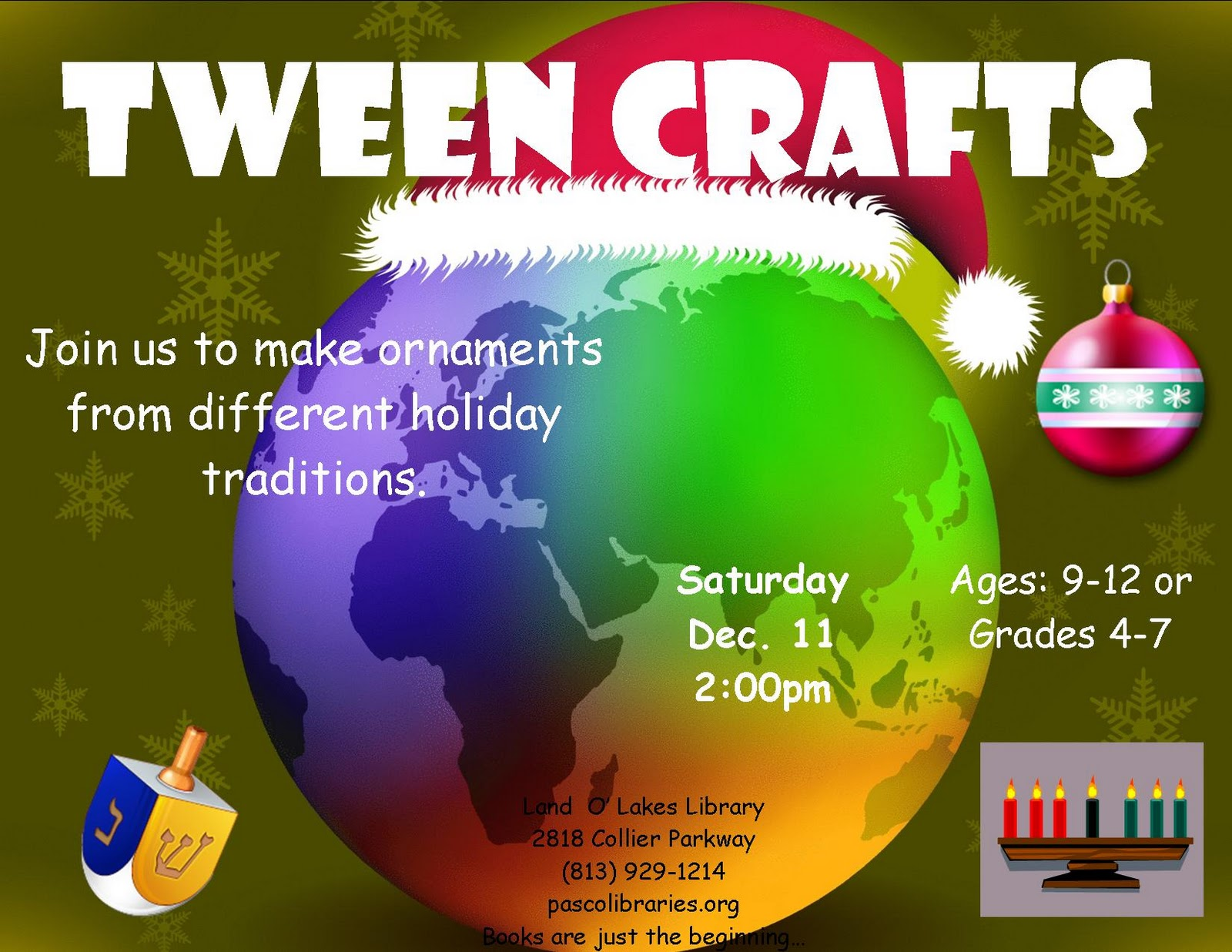 Tween crafts pcls land o 39 lakes library blog for Holiday crafts for tweens