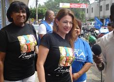 Alexandra Moreno visita la ciudad de Cali
