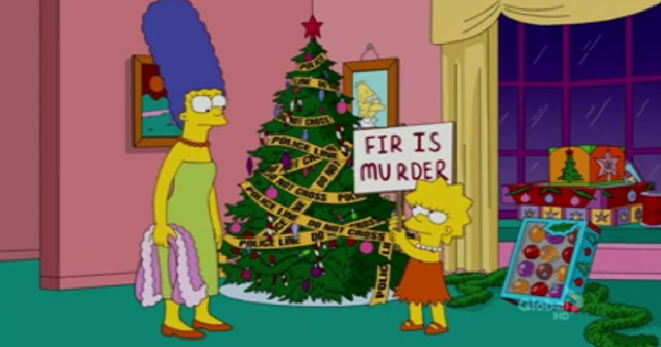 what you didnt know lisa hates x mas i mean its not like weve seen her enjoy it one bit before - The Fight Before Christmas
