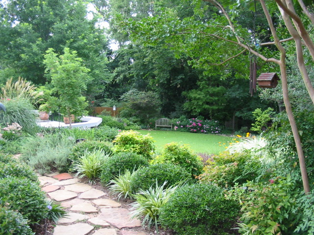 Landscaping Under Elm Trees : Signature gardens seasons of change backyard