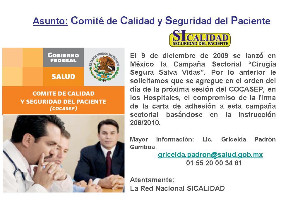 Mexico Por La Seguridad Del Paciente Noticia Importante